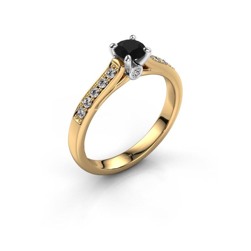 Verlovingsring Valorie 2 585 goud zwarte diamant 0.48 crt