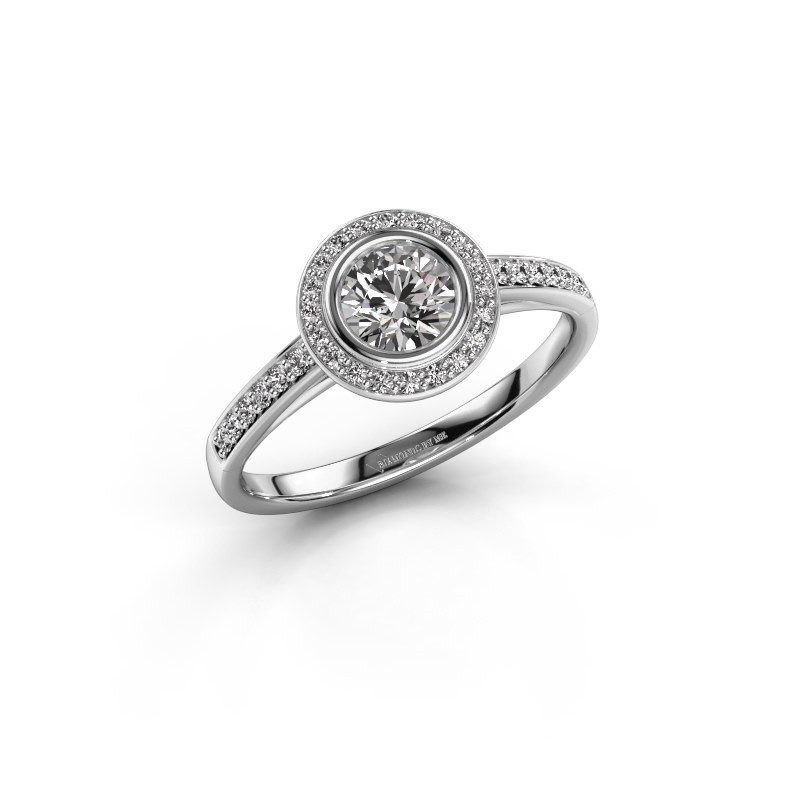 Verlovingsring Noud 2 RND 925 zilver diamant 0.69 crt