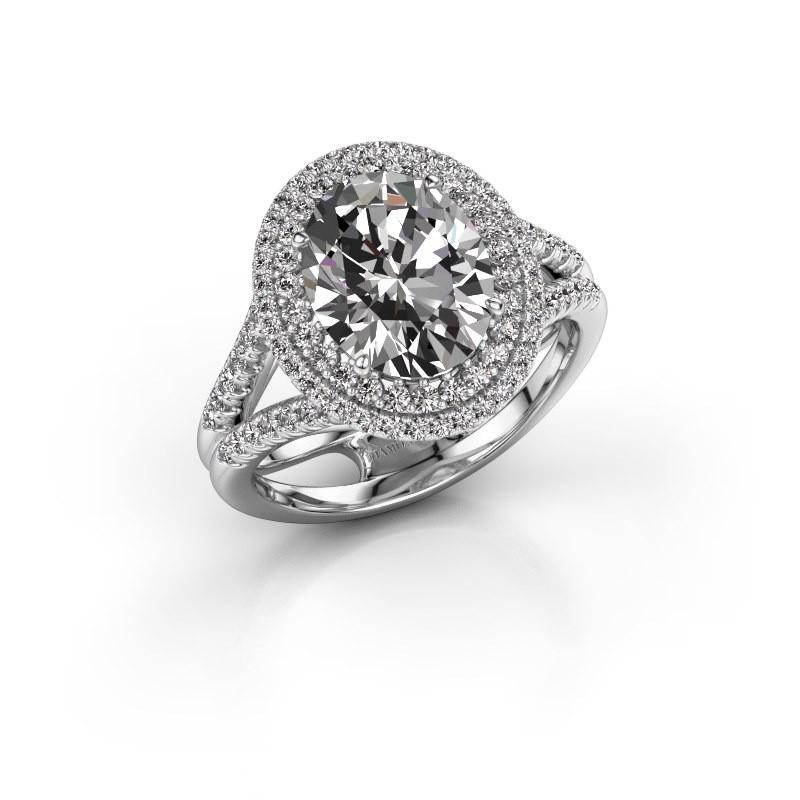 Verlovingsring Elvie 950 platina diamant 3.295 crt