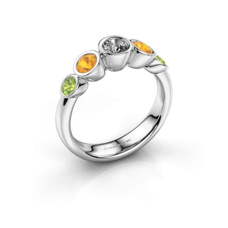 Ring Lizz 585 white gold lab grown diamond 0.25 crt