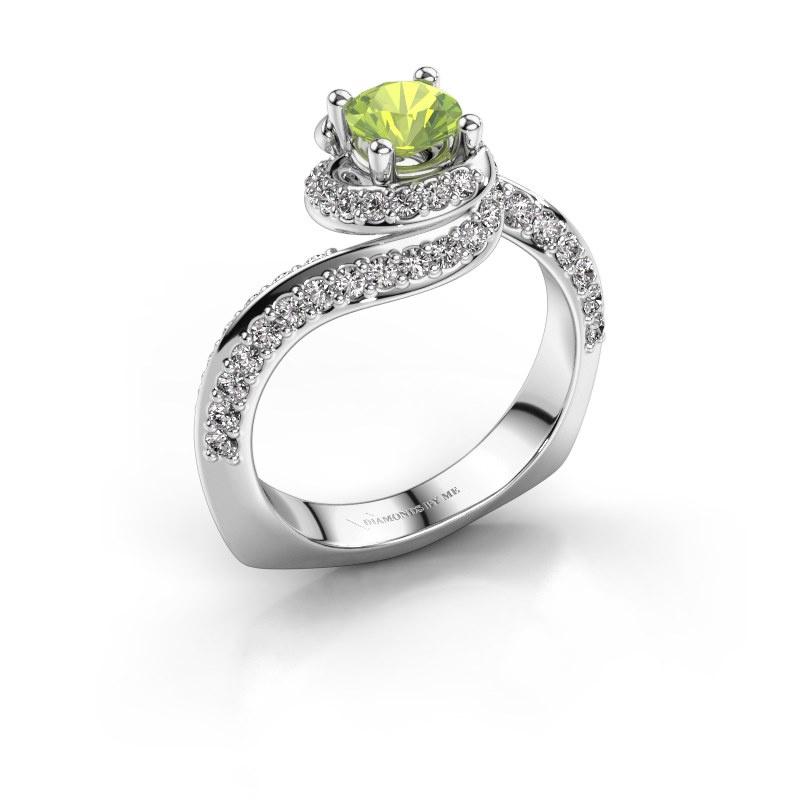 Engagement ring Sienna 950 platinum peridot 5 mm