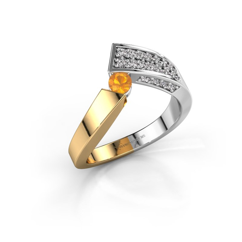 Ring Evie 585 gold citrin 3.4 mm