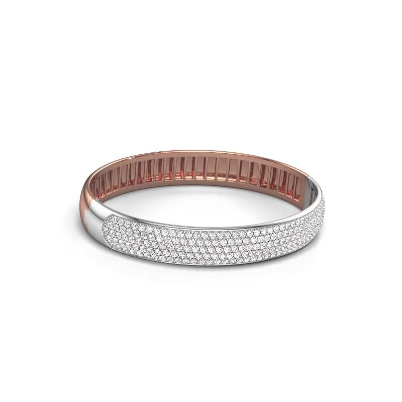 Slavenarmband Emely 10mm 585 rosé goud lab-grown diamant 4.355 crt