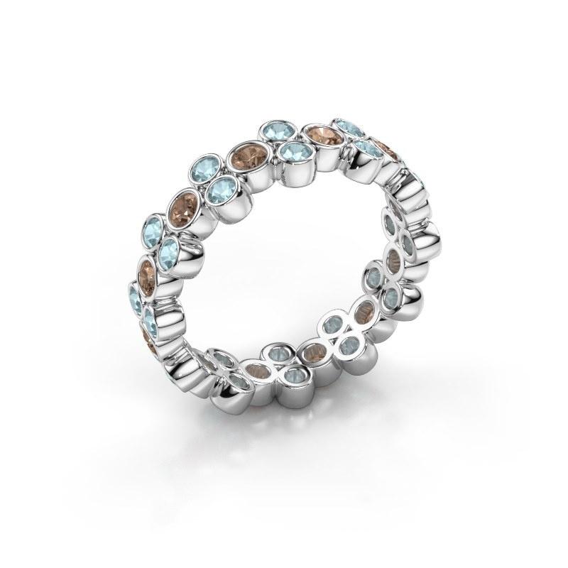 Bague Victoria 585 or blanc diamant brun 0.66 crt
