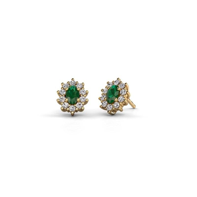 Ohrringe Leesa 375 Gold Smaragd 6x4 mm
