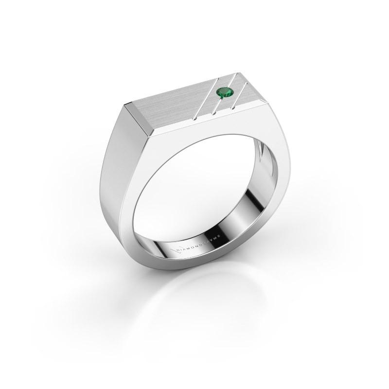 Herrenring Dree 5 950 Platin Smaragd 2.4 mm