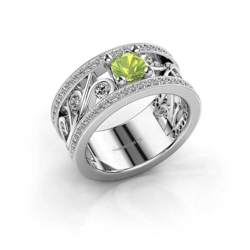 Ring Sanne 925 zilver peridoot 5 mm