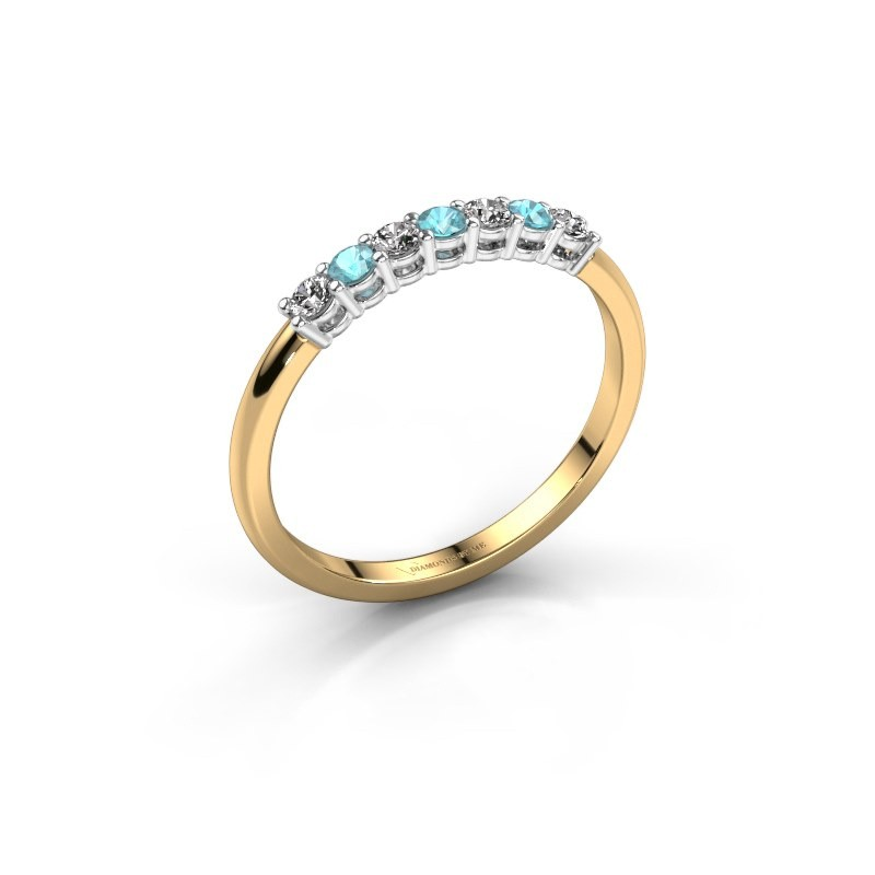 Verlobungsring Michelle 7 585 Gold Blau Topas 2 mm