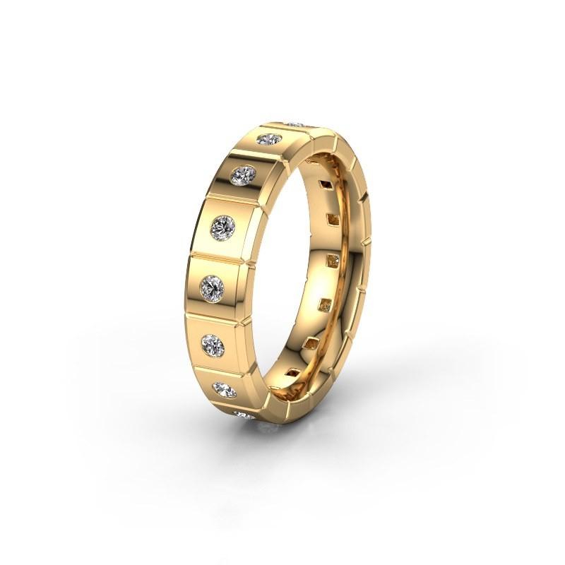 Huwelijksring WH2055L15DP 585 goud diamant ±5x2.4 mm