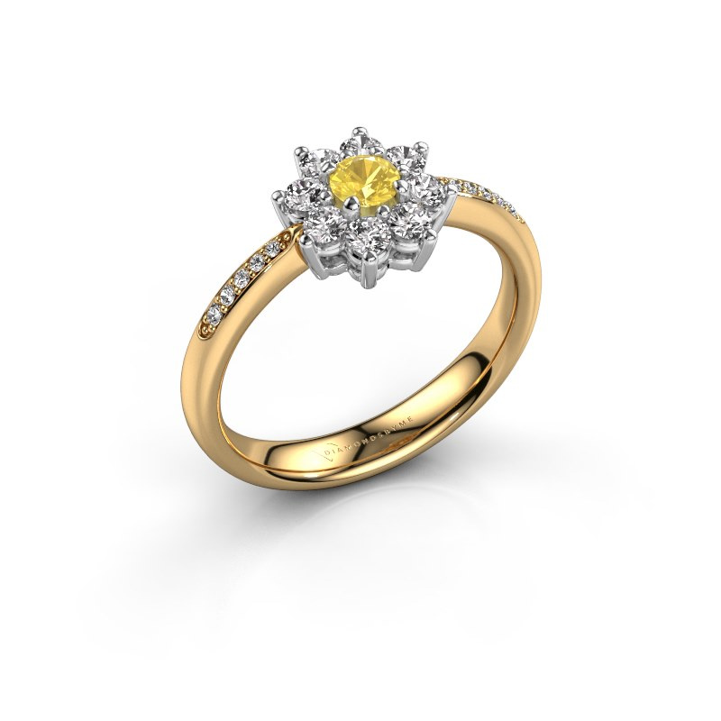 Verlobungsring Camille 2 585 Gold Gelb Saphir 3.4 mm