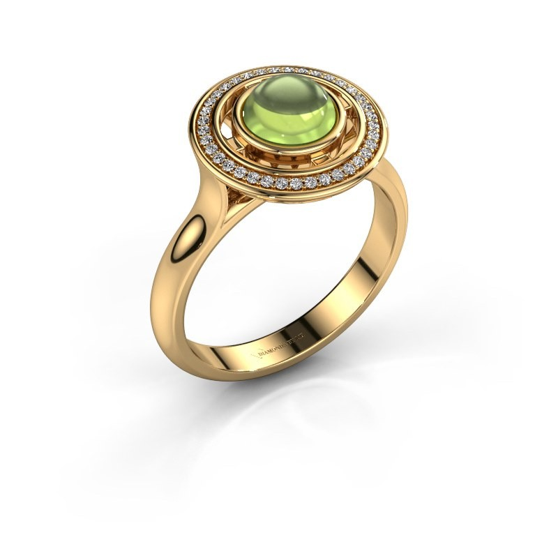 Ring Salima 585 goud peridoot 6 mm