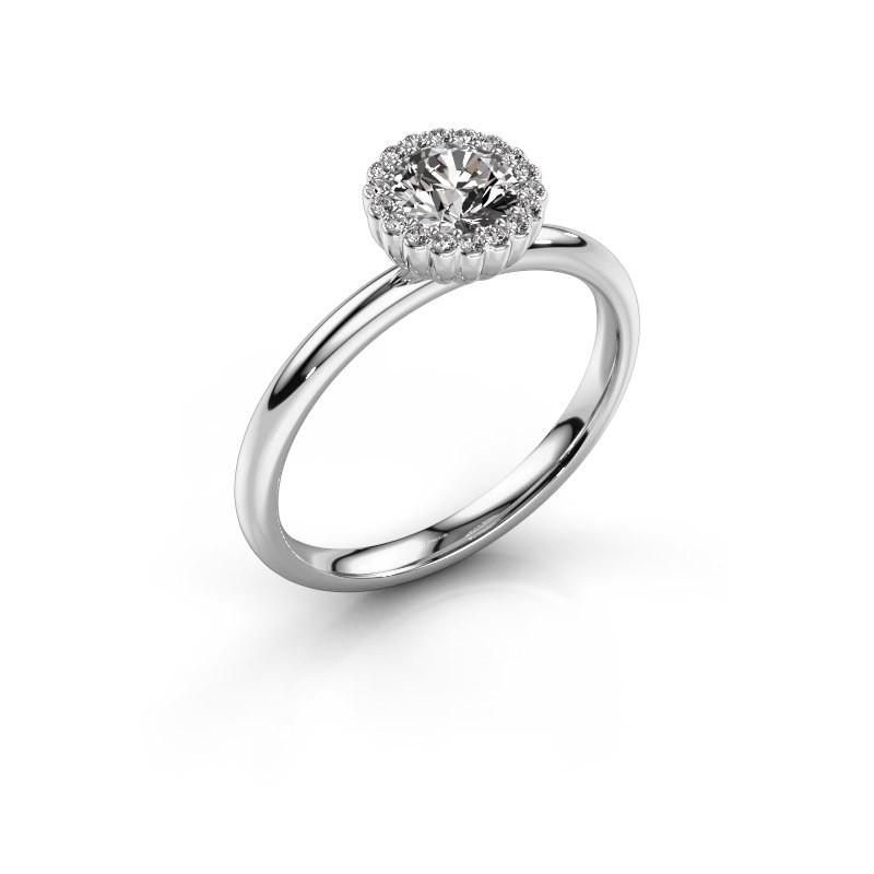 Verlovingsring Queen 585 witgoud diamant 0.59 crt