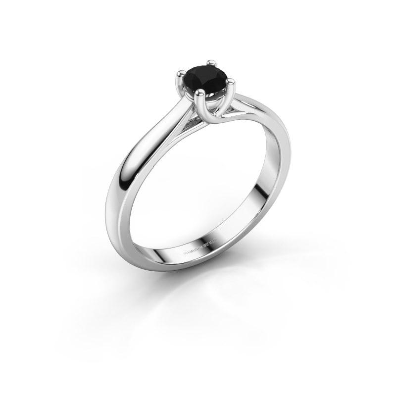 Bague de fiançailles Mia 1 925 argent diamant noir 0.30 crt