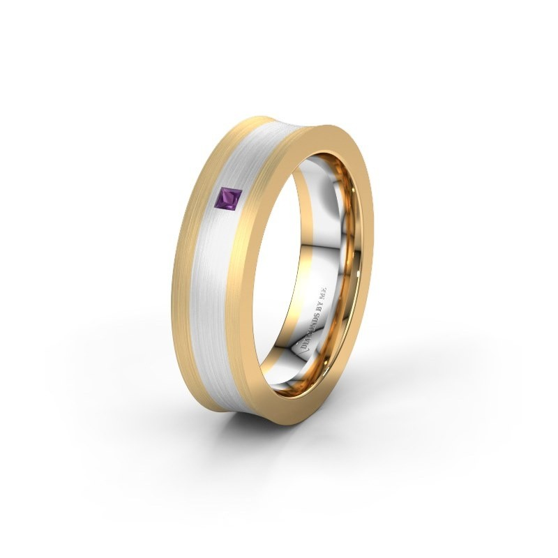 Wedding ring WH2238L2 585 gold amethyst ±6x2.2 mm