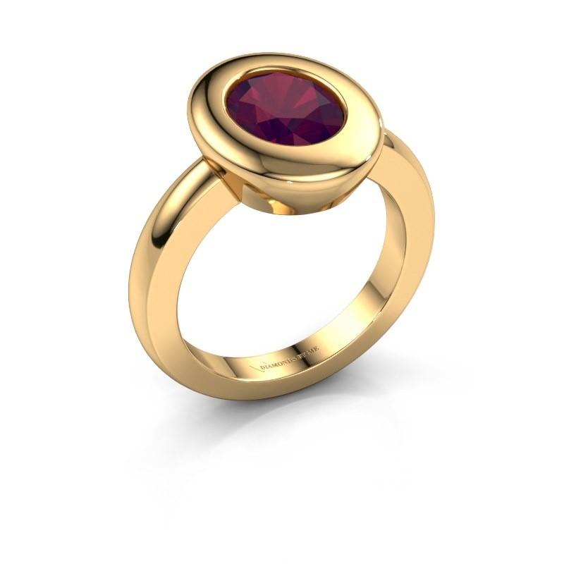 Ring Selene 1 585 goud rhodoliet 9x7 mm