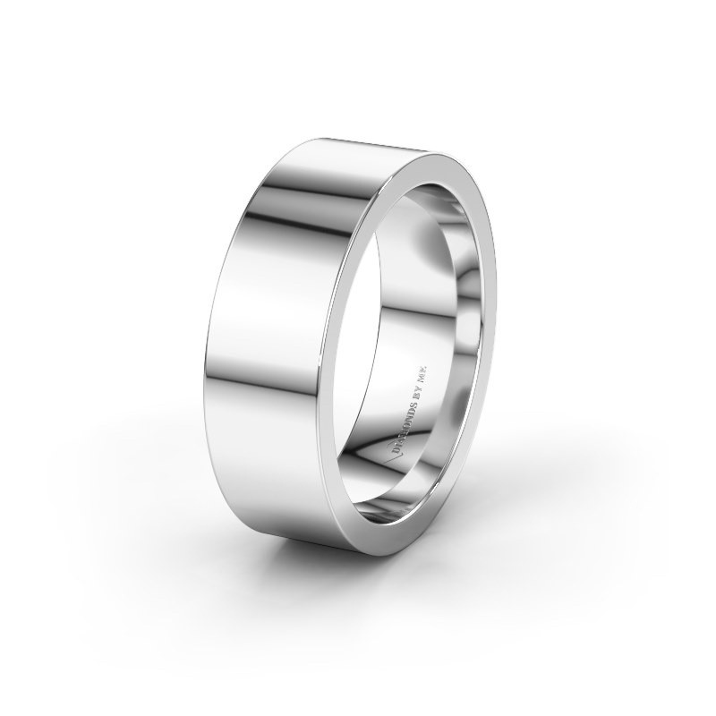 Wedding ring WH0100M17BP 375 white gold ±7x2 mm