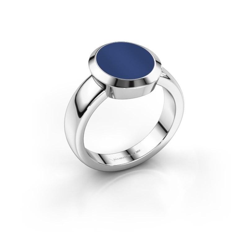 Zegelring Oscar 3 925 zilver lapis lazuli 12x10 mm
