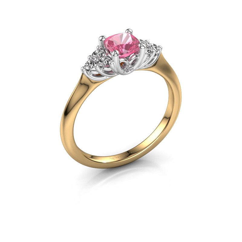 Verlobungsring Felipa CUS 585 Gold Pink Saphir 5 mm