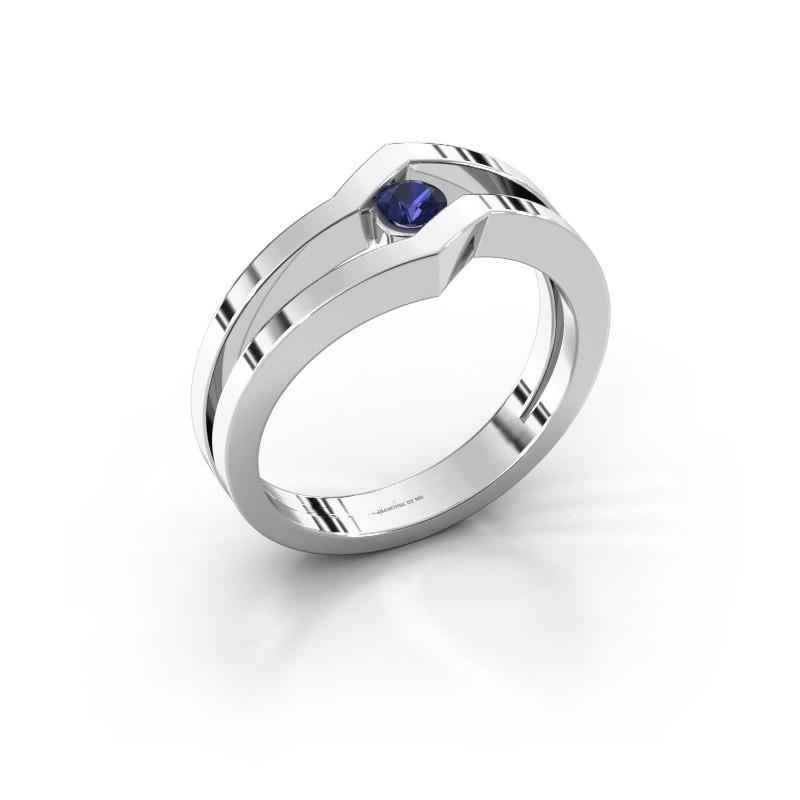 Ring Elize 925 zilver saffier 3.4 mm
