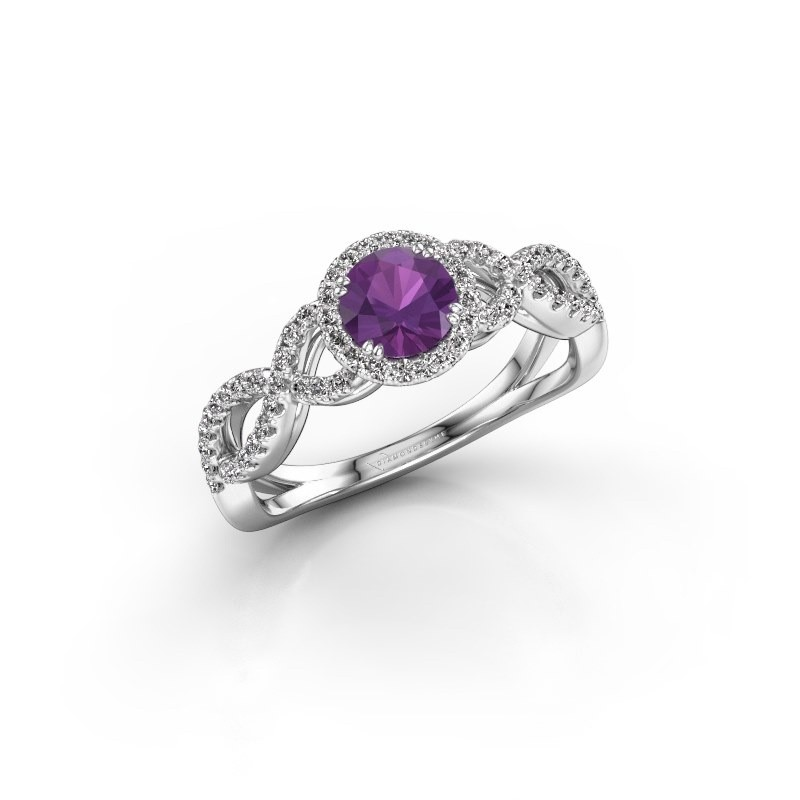 Engagement ring Dionne rnd 585 white gold amethyst 5 mm