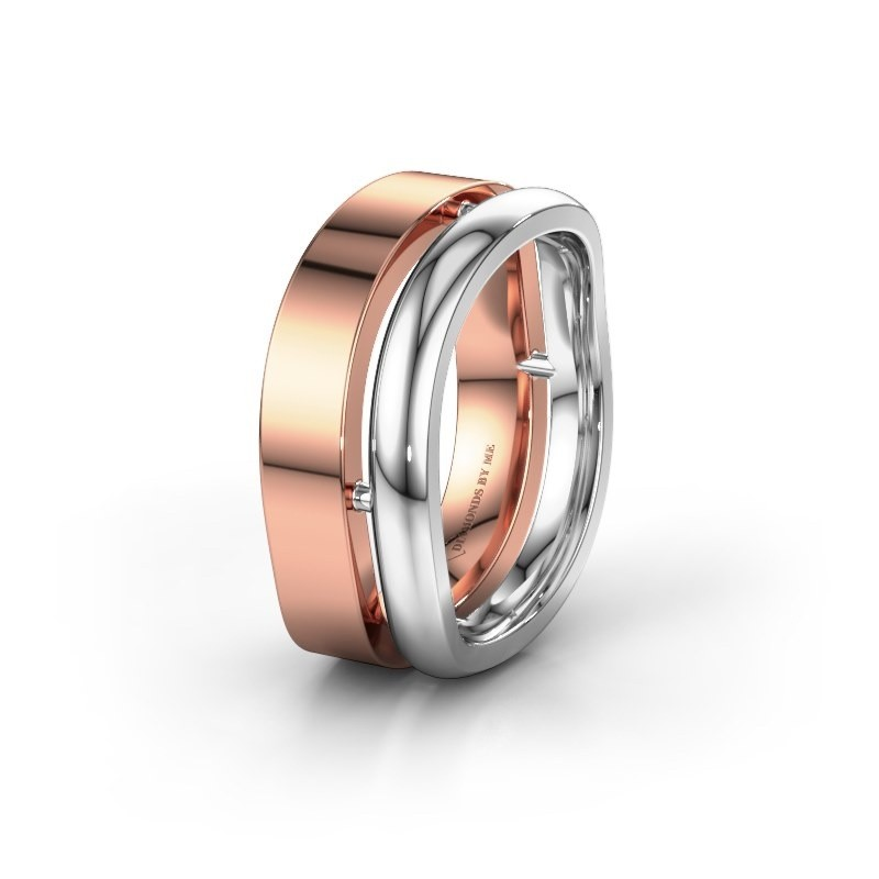 Trouwring WH6008M18BP 585 rosé goud ±10x2 mm