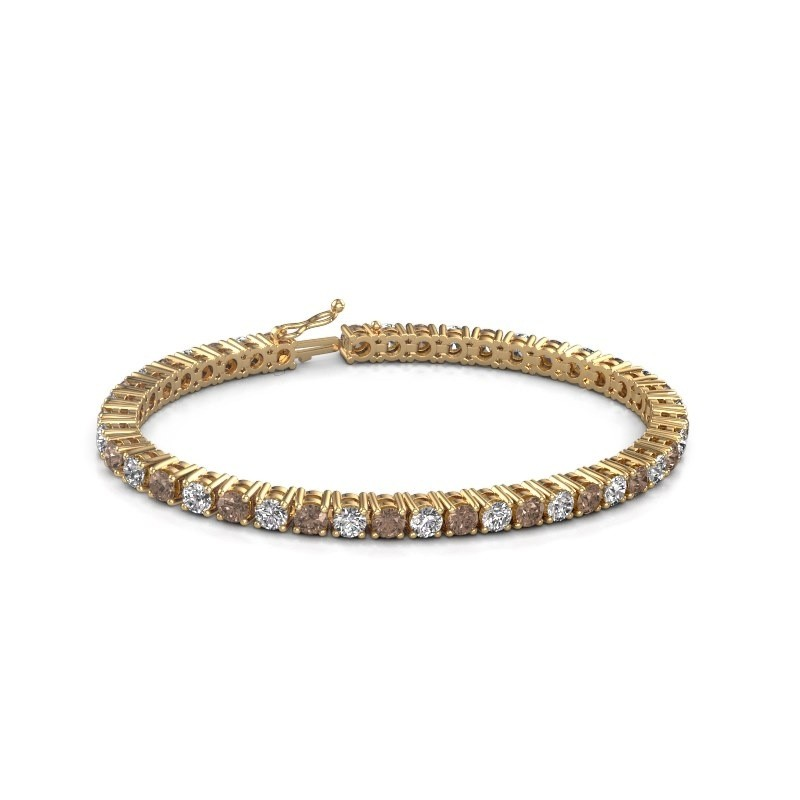 Tennis bracelet Karin 585 gold brown diamond 10.75 crt