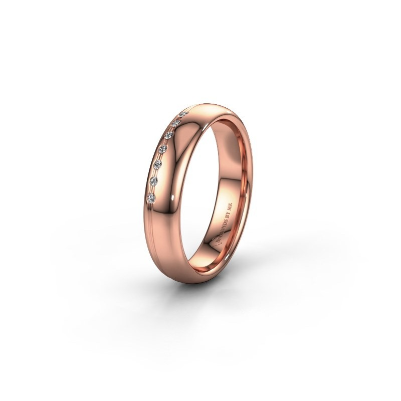 Bague d'amitié WH2144L34A 585 or rose diamant ±4x1.7 mm