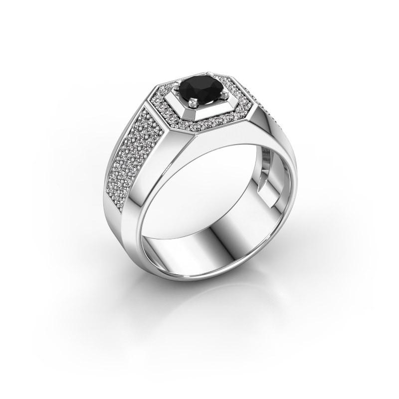 Heren ring Pavan 950 platina zwarte diamant 1.188 crt