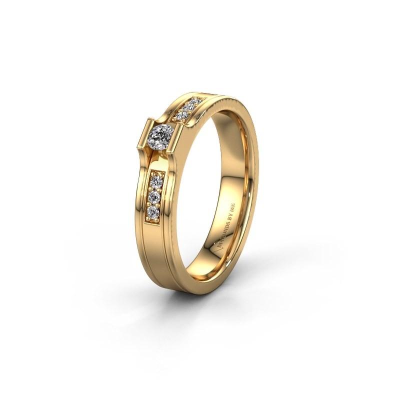 Trouwring WH2110L14A 585 goud zirkonia ±4x1.7 mm