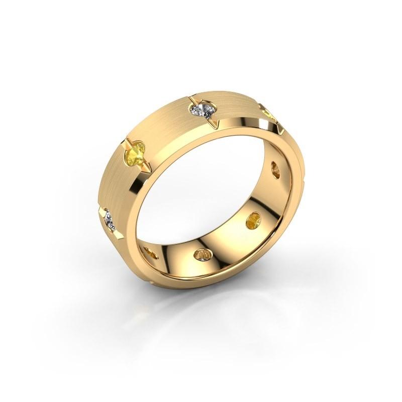 Men's ring Irwin 585 gold yellow sapphire 2.7 mm