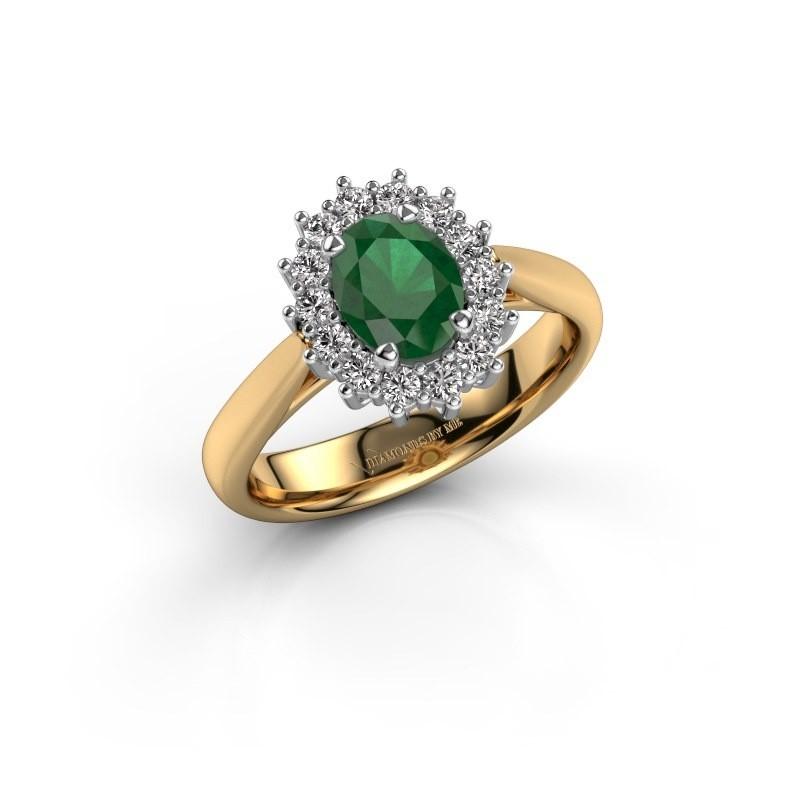 Verlobungsring Margien 1 585 Gold Smaragd 7x5 mm