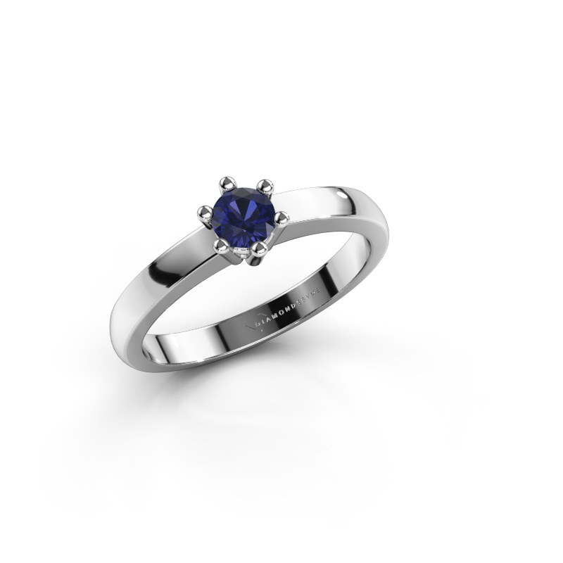Engagement ring Luna 1 925 silver sapphire 3.7 mm
