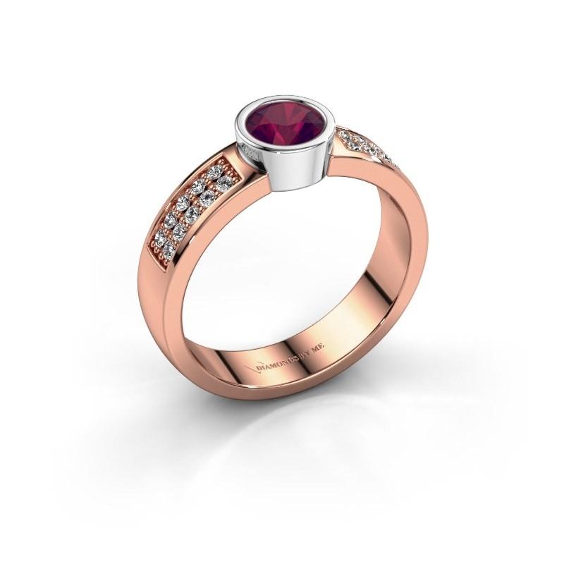 Verlovingsring Ise 3 585 rosé goud rhodoliet 4.7 mm