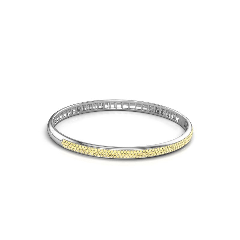 Armband Emely 5mm 585 witgoud gele saffier 1.1 mm