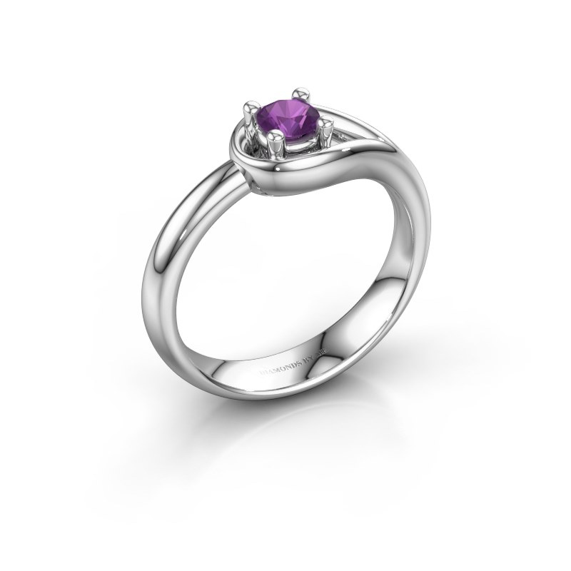 Ring Fabienne 925 zilver amethist 4 mm