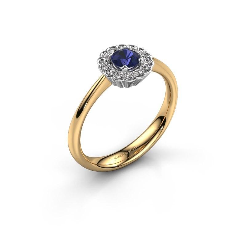 Verlovingsring Debi 585 goud saffier 4.2 mm