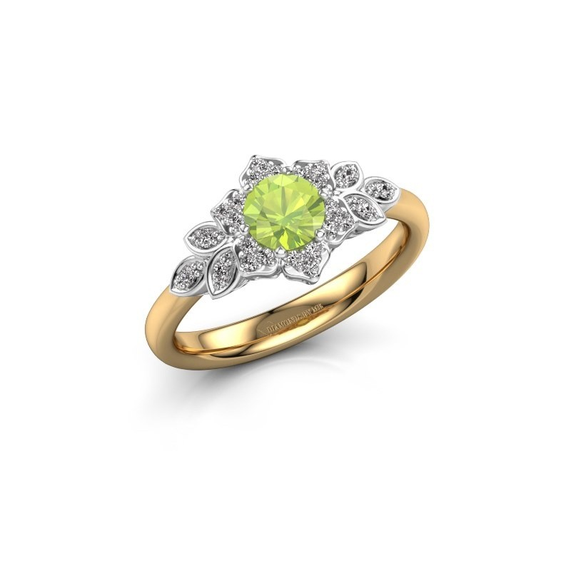 Engagement ring Tatjana 585 gold peridot 5 mm