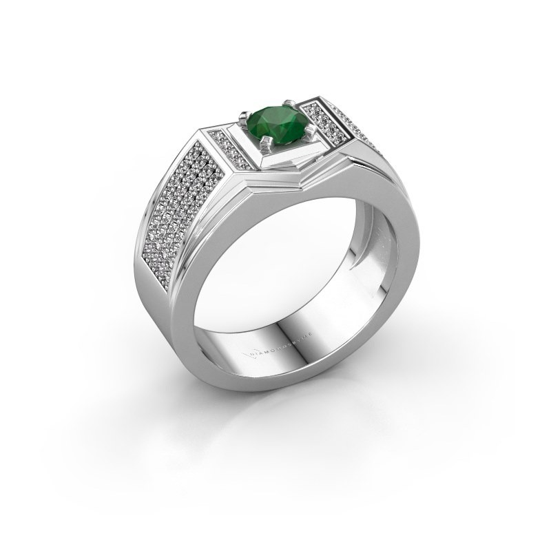 Men's ring Marcel 950 platinum emerald 5 mm