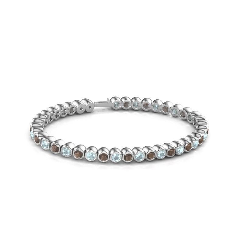 Tennisarmband Mellisa 585 witgoud rookkwarts 3.5 mm