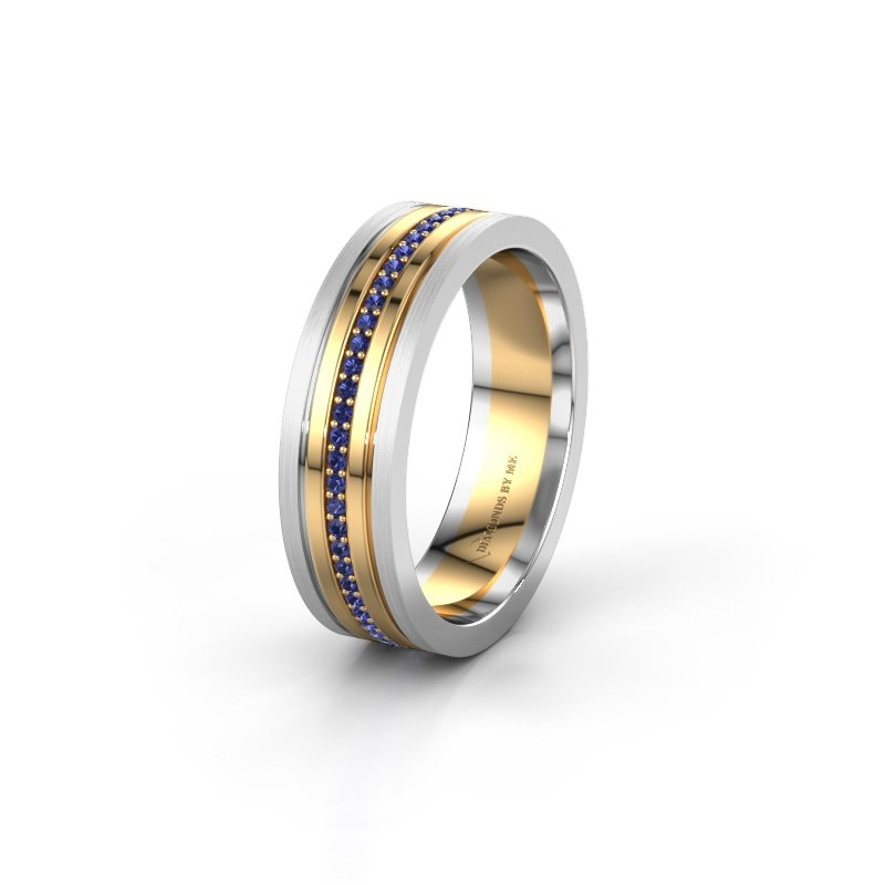 Wedding ring WH0404L16A 585 gold sapphire ±6x1.7 mm
