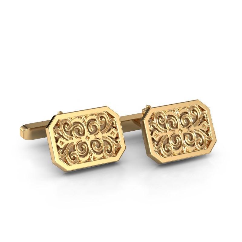 Manchetknopen Wouter 585 goud