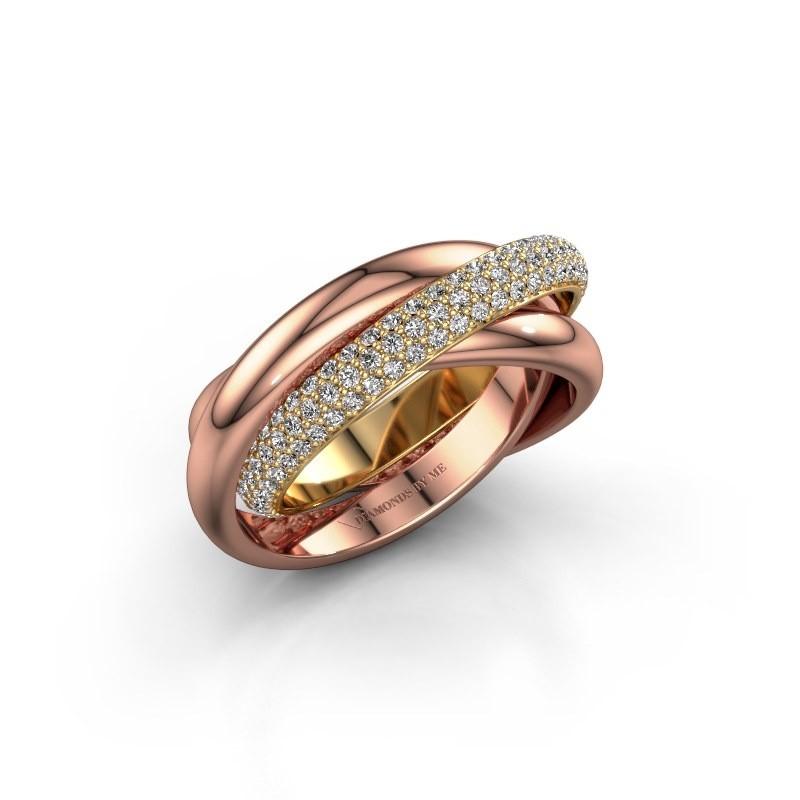 Ring Trinity 2 585 goud diamant 0.885 crt