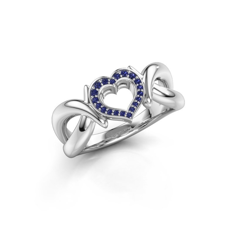 Ring Earlie 1 925 zilver saffier 1.1 mm