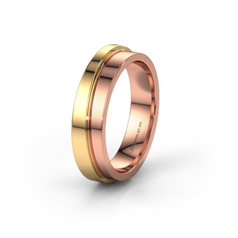 Wedding ring WH6016M15E 585 rose gold ±5x2.4 mm