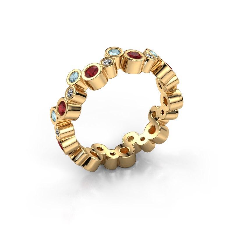 Ring Tessa 585 goud robijn 2.5 mm