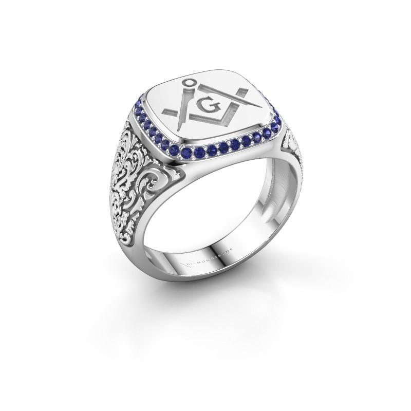 Men's ring Hugo 950 platinum sapphire 1.2 mm