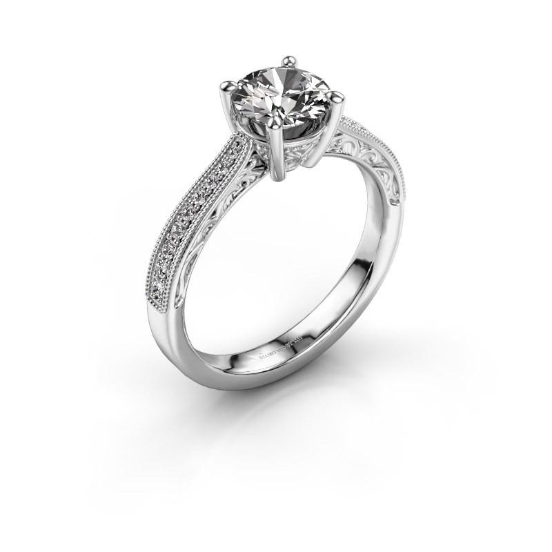 Belofte ring Shonta RND 950 platina diamant 1.13 crt
