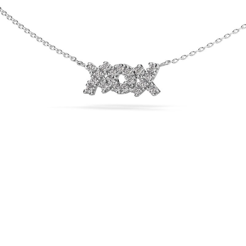 Kette XoX 585 Weißgold Diamant 0.285 crt