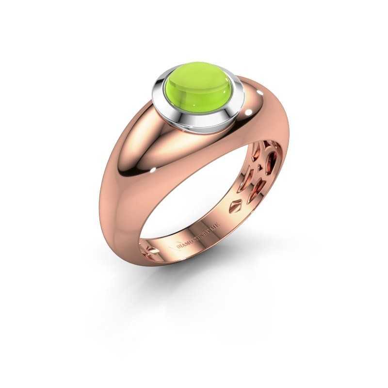 Ring Sharika 585 rosé goud peridoot 6 mm