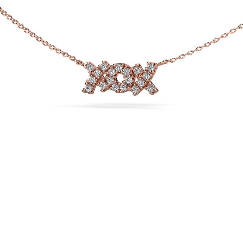 Ketting XoX 375 rosé goud diamant 0.285 crt